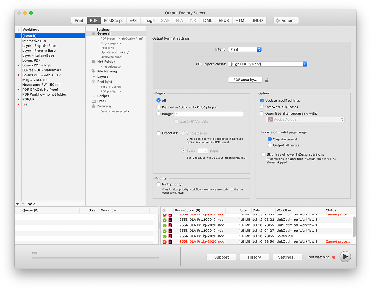 Output Factory Server for InDesign Adds M1 Support, Improves Mail Alerts Image