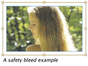 InDesign safety bleed example