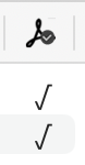 Font PDF embedding column