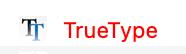 TrueType font warning