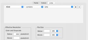 Links preflight rules example