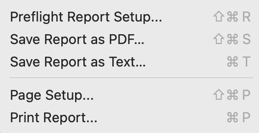 Report menus